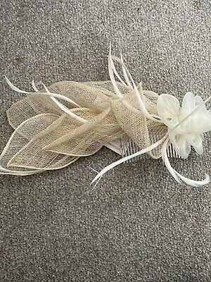 Victorian Ann Hair Long Fascinator On Comb Floral & Feather Wedding Special Occ