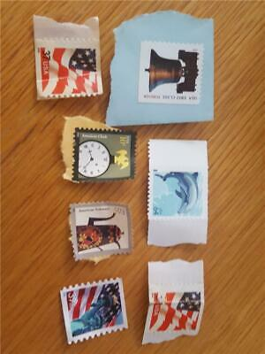 7 US FOREVER First Class Stamps Uncanceled Dolphin Postage New Clock Flag Bell