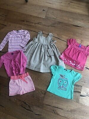 Girls GAP M&S clothes bundle age 2-3 years Shorts Cardigan Cotton Dress Tops VGC