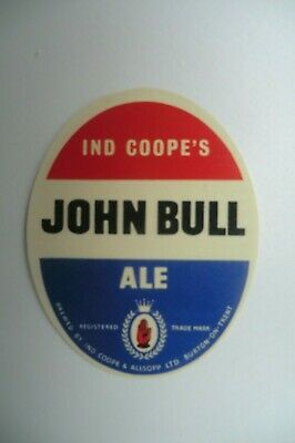 MINT PAIR OF IND COOPE BURTON JOHN BULL /& BROWN ALE BREWERY BEER BOTTLE LABELS