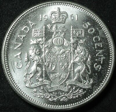1961 Canada Silver Fifty Cent Coin