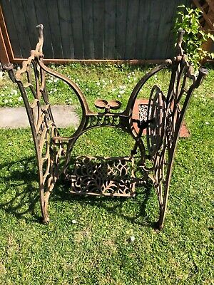 Antique cast iron pfaff sewing table base