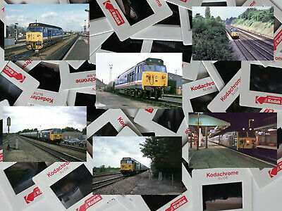 Job lot of 50 x Quality 35mm Railway slides mainly  Class 50 Locomotives