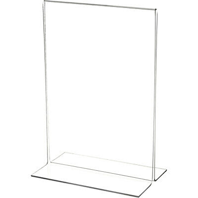 "Plymor Clear Acrylic Sign Display/Literature Holder (Bottom-Load), 7"" W x 10"" H"