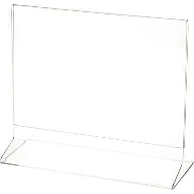 """Plymor Clear Acrylic Sign Display / Literature Holder (Side-Load), 8"""" W x 6"""" H"""