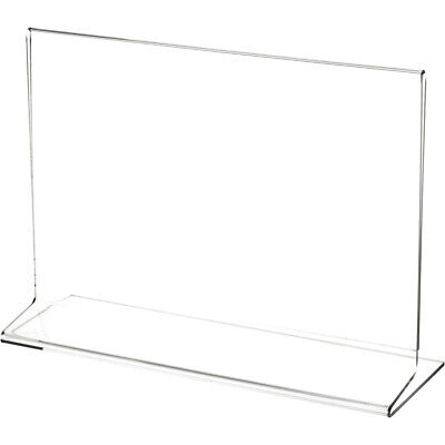 """Plymor Clear Acrylic Sign Display / Literature Holder (Side-Load), 9"""" W x 6"""" H"""