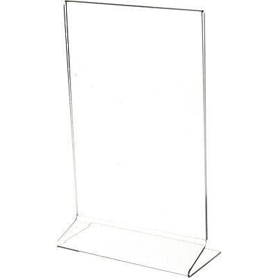 "Plymor Clear Acrylic Sign Display / Literature Holder (Side-Load), 6"" W x 9"" H"