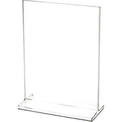"Plymor Clear Acrylic Sign Display / Literature Holder (Top-Load), 5.5"" W x 7"" H"