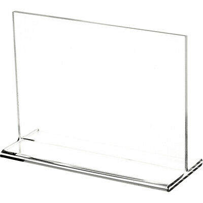 "Plymor Clear Acrylic Sign Display / Literature Holder (Top-Load), 7"" W x 5"" H"