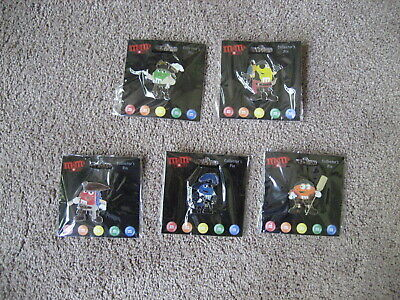 "M&M's-   5 M&M ""Pirates Of The Caribbean"" Pin Set-  New-  Never Used"