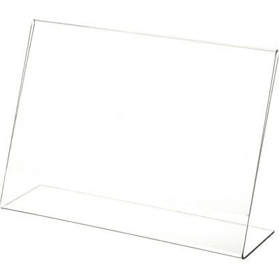"Plymor Clear Acrylic Sign Display / Literature Holder (Angled), 10"" W x 7"" H"