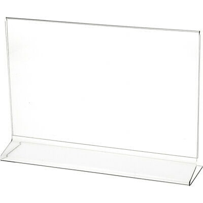 "Plymor Clear Acrylic Sign Display / Literature Holder (Side-Load), 11"" W x 7"" H"
