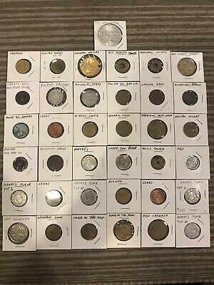 Rare Lot Of 37 Old Tokens
