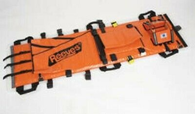Orange Reeves Sleeve EMS Rescue Immobilization Stretcher with Case