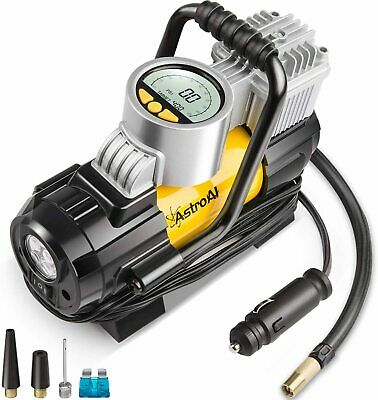 Portable Air Compressor Pump, w/Digital Pressure Gauge, & Overheat Protection.