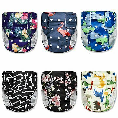 3 Layer Reusable Cloth Diapers with Adjustable Snaps