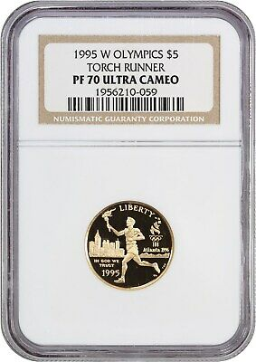 1995-W Olympic Torch $5 NGC PR 70 UCAM - Modern Commemorative Gold