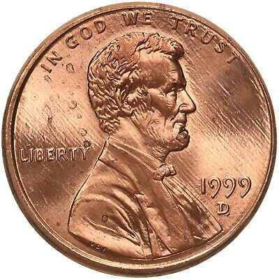 1999 D Lincoln Memorial Cent BU Penny US Coin