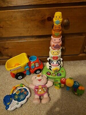 Vtech Singing Bear & Roll & Wiggle Caterpillar Leap Frog Musical Counting Pal