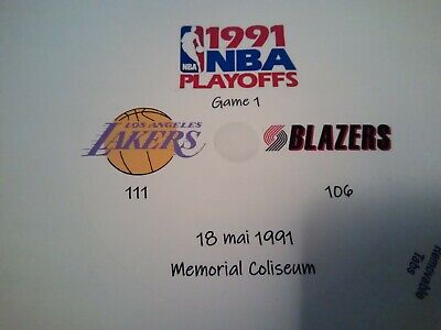 NBA Playoffs 1991 DVD Blazers Vs Lakers