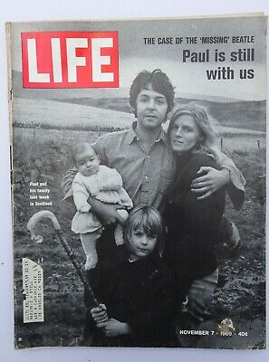 LIFE magazine November 7 1969 - Paul McCartney Beatles