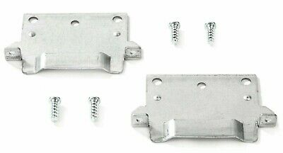 IKEA mounting plate bracket x 2 Hemnes Malm Brusali Bed with screws *NEW*