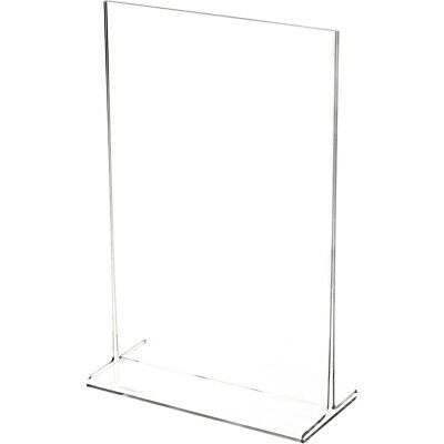 "Plymor Clear Acrylic Sign Display / Literature Holder (Top-Load), 6"" W x 9"" H"