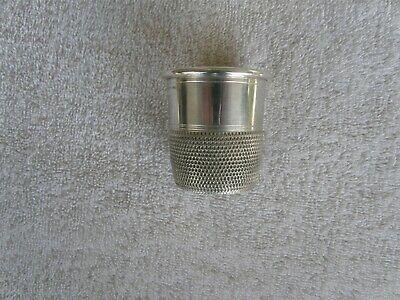 Sterling Silver Thimble Shot Glass - Marked Fisher Sterling 2