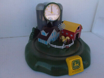 John Deere Tractor Farm House w/ Tractor Sound Alarm Clock Battery Operated