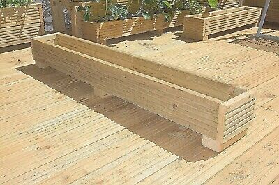 Garden Deck Planter Box 120cm Wooden Handmade Boxes Pressure Treated