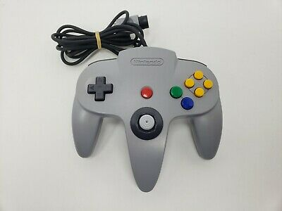 Nintendo 64 Controller Original Gray Tested Authentic N64 OEM Gray Works.