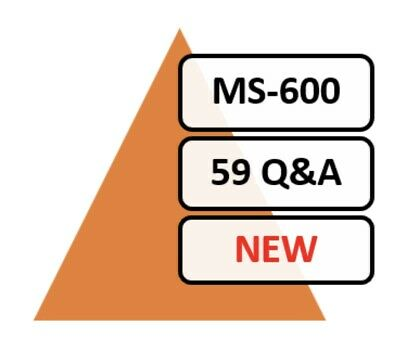 Updated MS-600 Practice Exam 59 Q&A PDF File Only!