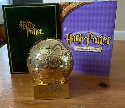 Rare Promo Harry Potter Golden 3D Puzzle Snitch Quidditch Japanese Collectible