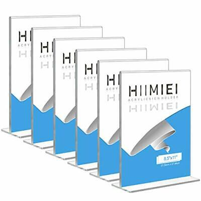 HIIMIEI 8.5x11 Acrylic Sign Holder Table Menu Display Stand Clear Plastic 8.5...