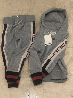 Kids Comfy Grey Gucci track Jogging Size  2 Or 5 Youth Grey Only 4 Left!