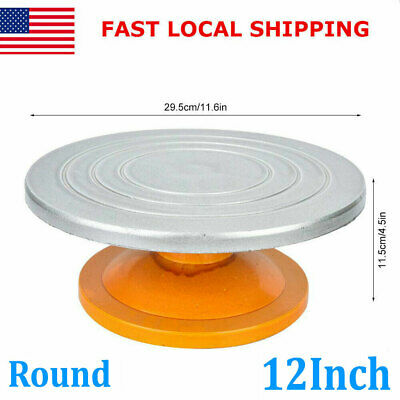 12Inch Pottery Banding Wheel Metal Turntable Turnplate Clay Sculpture Model Tool