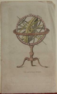 Armillary Sphere 1760 Thomas Jeffreys Antique Original Copper Engraved  Map