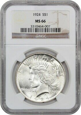 1924 $1 NGC MS66 - Peace Silver Dollar