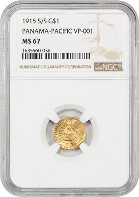 1915-S/S Panama-Pacific G$1 NGC MS67 (VP-001) Classic Commemorative - Gold Coin