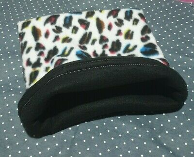 Snuggle Pouch Cuddle Pouch Bag Sack Ideal For Guinea Pig Rat  - Leopard Design