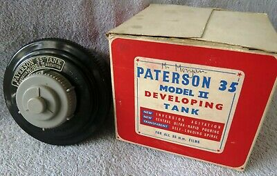 PATERSON 35 MODEL II DEVELOPING TANK FOR ALL 35mm FILMS + ORIGINAL BOX