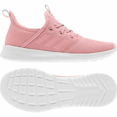 Adidas Womens Ladies Cloudfoam Pure Textile Sports Casual Shoes Trainers Pink
