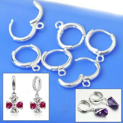 6 Pairs 925 Sterling Silver European Style Lever Back Ear Wires Jewelry Findings