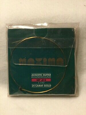 MAXIMA 24K GOLD 12-STRINGS Acoustic Guitar Strings