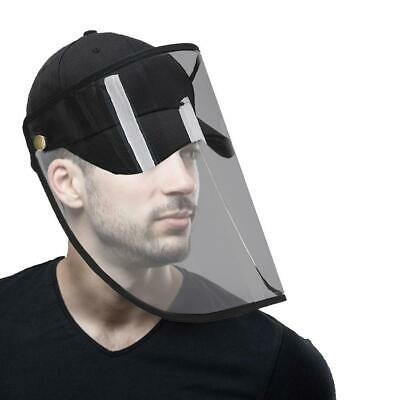 Clear Removable Face Protection Shield with Baseball Cap