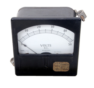 Vintage Weston Electric Direct Current Panel Meter 0-50 Model 741 NO. 27643