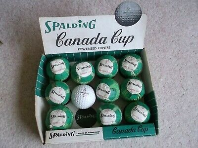 GOLF BALLS BOX OF SPALDING CANADA CUP FROM 1950s