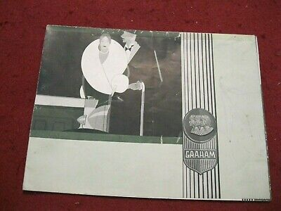 """""""The Graham Story"""" Color Sales Brochure; Prices & Specs 12-3/4"""" X 17"""" Opened!"""