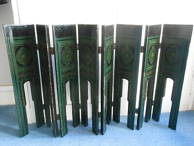 Vintage Wood Black Lacquer scratched design hinged table legs? Stand? 99p start!