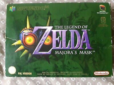 The Legend Of Zelda Majora's Mask Nintendo 64 En Boite, Cale Et Notice N64